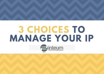 3 CHOICES TO MANAGE YOUR IP